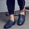 Nueva primavera verano hombres holgazanes Oxfords plataforma de barcos de cuero slip-on casual zapatos de conducción zapatos mocasines transpirable pisos