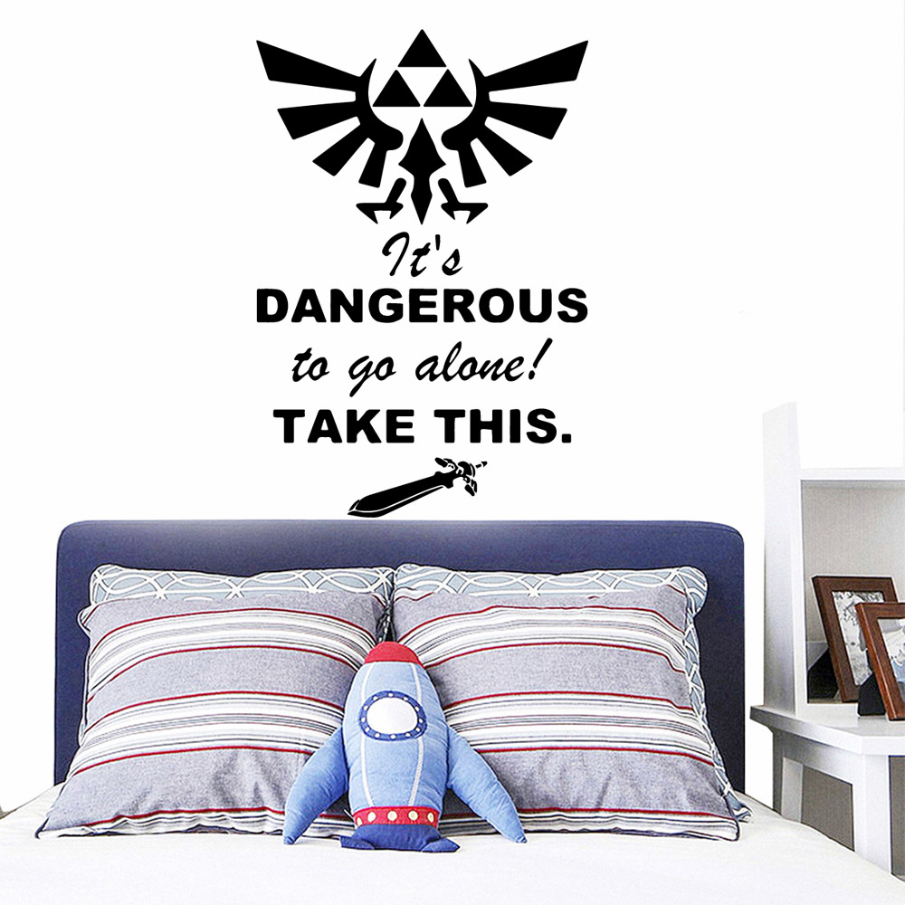2019 New Dangerous Wall Sticker Home Decor Living Room Mural Bedroom Removable Background Wall Art Decal stickers muraux