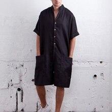 MoneRffi повседневные мужские штаны, комбинезоны, хлопковый комбинезон, свободные брюки с карманами, мужские комбинезоны, мусульманская одежда