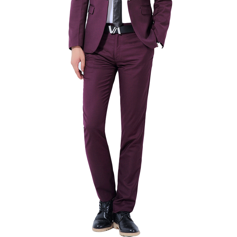 Mens Suit Pants Solid color Big Size High Quality Mens Pants Business Trousers Slim Mens Formal Pants Non Ironing Gent Life
