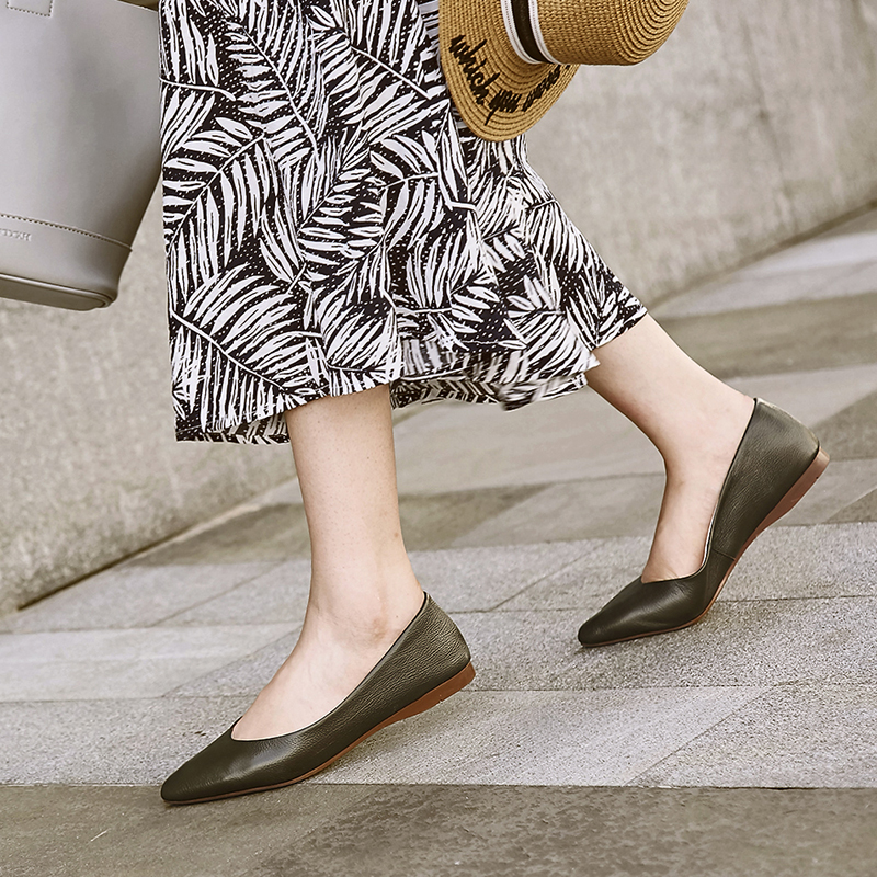 Bimolter New Women Flats fashion Boat Shoes High Quality Genuine Leather flat Shallow Woman Casual NB037