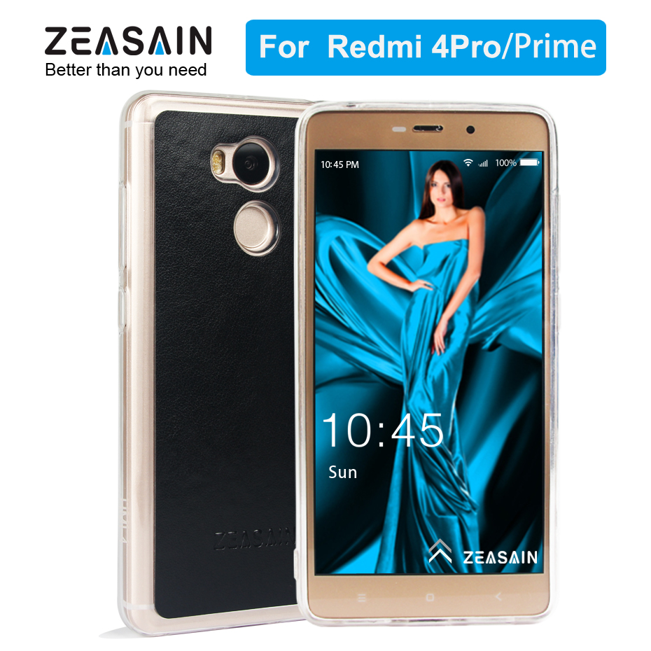 Original ZEASAIN Luxury Soft PU Leather Cover Case for Xiaomi Redmi 4 Pro Prime 4Pro 4Prime Slim Crystal Camera Protection Coque image