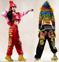 Hot! 2015 Fashion brand Adult Women Trousers Performance wear sweatpants costume female knitted loose harem Hip hop dance pants