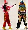 Hot! 2015 marca de Moda Mulheres Adultas Calças desgaste Desempenho traje feminino de malha solta harem pants Hip hop dance calças sweatpants
