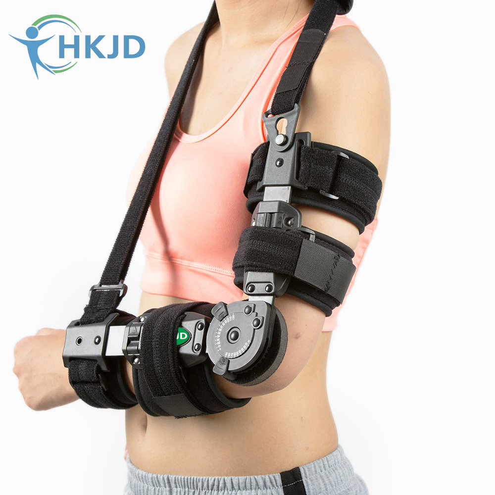 MEDICAL ARM BRACE ADJUSTABLE HINGED RT ELBOW SUPPORT WITH VELCRO STRAPS PREOWNED factory direct sale hinge elbow brace arm support medical orthopedic orthotics supports