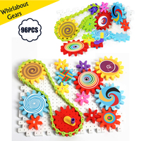 Whirlabout Interlocking Gears Building Set,Learning Blocks,Spinning Gears Combination DIY Construction Kit Educational toys