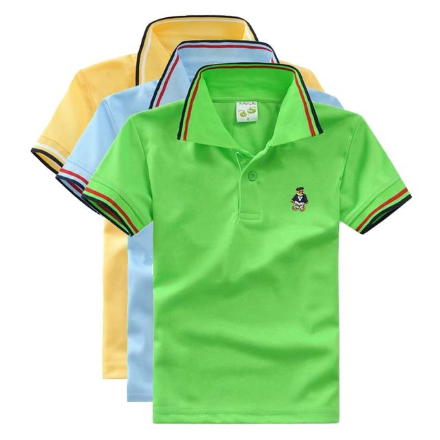 a2210efd High Quality boys polo shirt short sleeve kids t shirts school uniform  clothing baby boy clothes cotton boys casual shirt