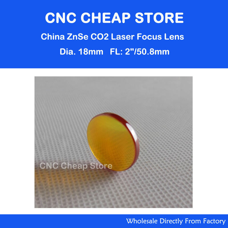 18mm ZnSe Lens Focus CO2 10600nm 10.6um Laser Incisione e Taglio attrezzature Lente Focale: 2 pollice 50.8mm