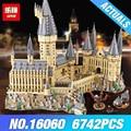 Lepin Escola Harry Potter Magic castle 16060 legoing escola Hogwarts de harry potter 71043 Modelo de blocos de Construção Tijolos