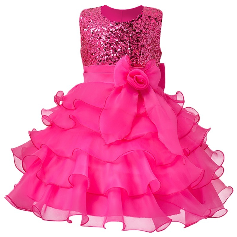New Summer Baby Girl Rainbow tutu Princess Toddler Girl Clothing Child Costume Infant Party Pageant dresses for girls 3-12yrs