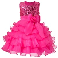 2015 Summer Baby Girl Rainbow Tutu Princess Toddler Girl Clothing Child Costume Infant Party Pageant Dresses