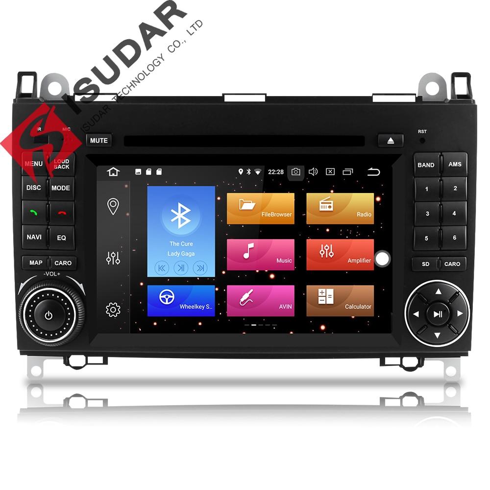 Isudar Voiture lecteur multimédia 2 din autoradio GPS Android 8.0 Pour Mercedes/Benz/Viano/B200/B150/ b170/B-classe OBD2 Microphone DSP