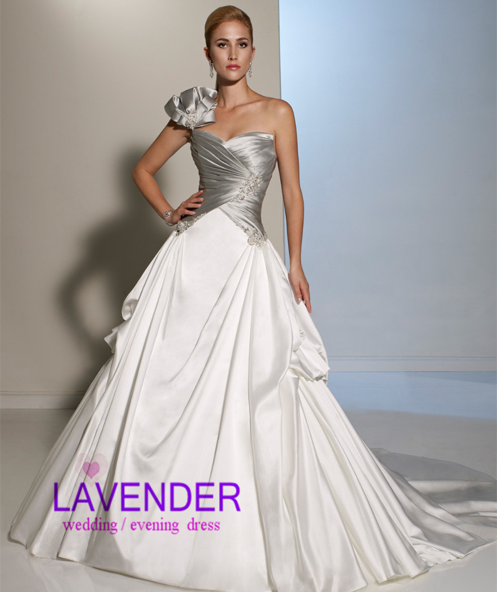 Online Get Cheap Silver and White Wedding Dress -Aliexpress.com ...