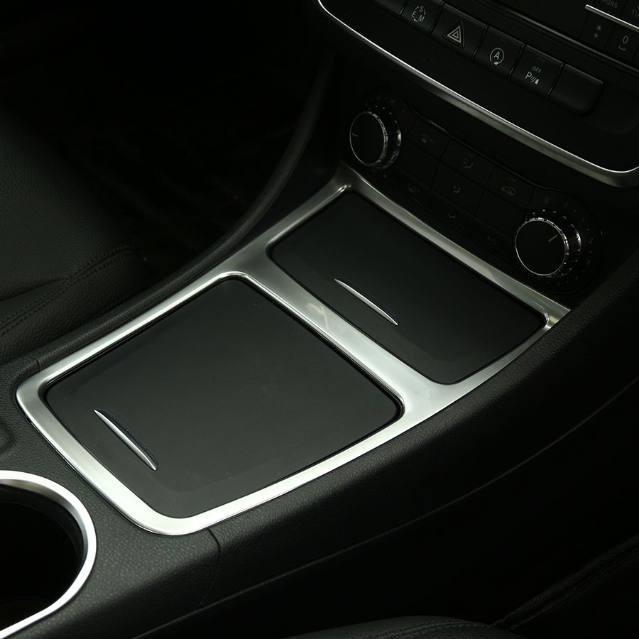 Chrome Center Panel Storage Box Cover Trim For <font><b>Mercedes</b></font> Benz GLA CLA A Class <font><b>A180</b></font> A200 W176 W117 Car Styling Accessories image