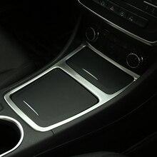 Chrome центр Панель коробка для хранения накладка для Mercedes Benz GLA CLA класс A180 A200 W176 W117 стайлинга автомобилей аксессуары