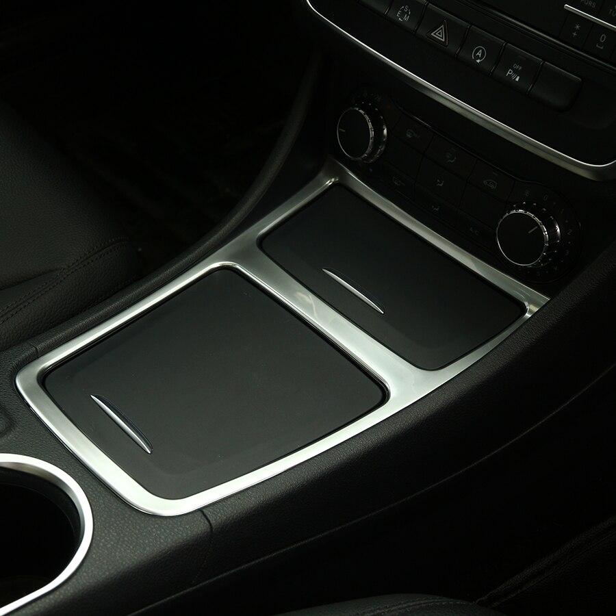 Chrome Panneau Central Boîte De Rangement Couverture De Garniture Pour Mercedes Benz GLA CLA UNE Classe A180 A200 W176 W117 Car Styling accessoires