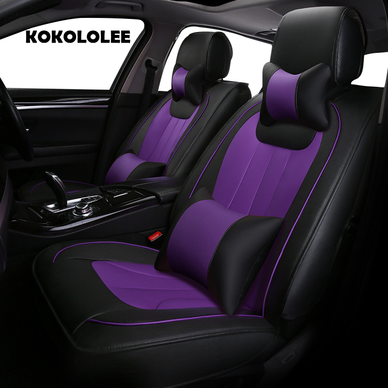 KOKOLOLEE pu leather car seat cover for Isuzu all models JMC S350 D-MAX same structure interior car accessories auto styling universal pu leather car seat covers for toyota corolla camry rav4 auris prius yalis avensis suv auto accessories car sticks