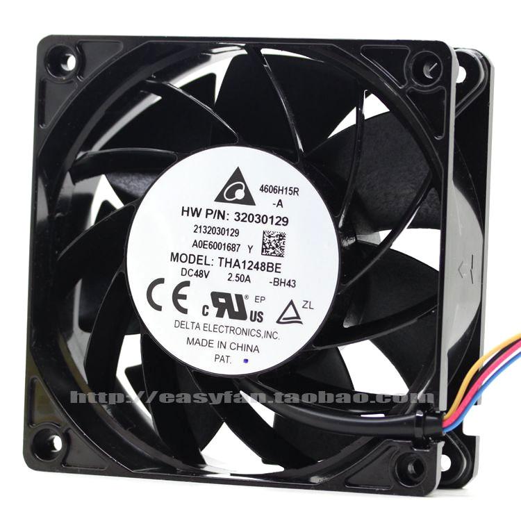 Delta THA1248BE BH43 DC 48V 2.50A 120x120x38mm Server Square fan delta ffb1248ehe f00 dc 48v 0 75a 2 wire 2 pin connector 120x120x38mm server square fan