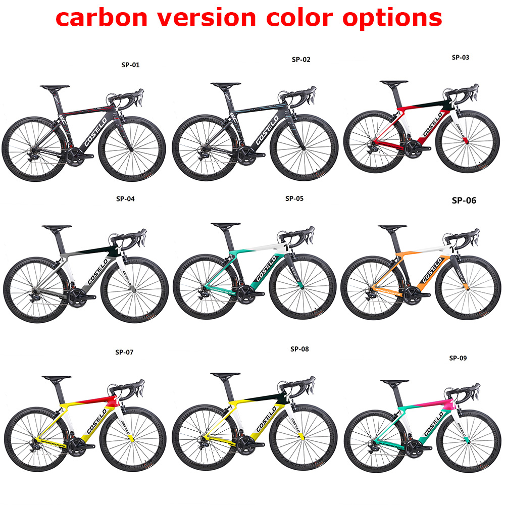 2019 Costelo Speedcoupe en fiber de carbone vélo de route cadre vélo complet avec 40mm roues groupe de vélo pas cher 9 Couleur