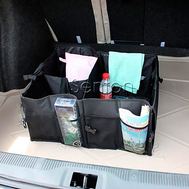 Folding Car Trunk Bag Box Car-Styling For Audi Q5 Q7 Q3 A4 B5 A6 C6 A3 A5 A1 Toyota Corolla Avensis Rav4 Auris Prius Accessories
