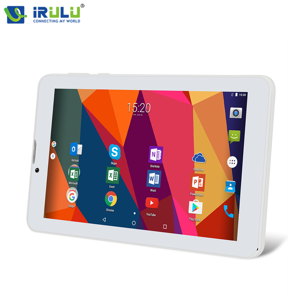 iRULU X6 3G Phablet 7 Phone Call Tablet Android 7.0 Quad Core 1024x600 IPS 16GB Wireless Ultra Slim Netbook With Keyboard Case wireless service call bell system popular in restaurant ce passed 433 92mhz full equipment watch pager 1 watch 7 call button