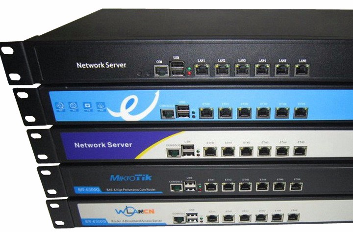 Intel Atom D525 Dual Core 4 Thread ROS PFSense Router Server with 6 LAN  Ports Rack Eears-in Wireless Routers from Computer & Office