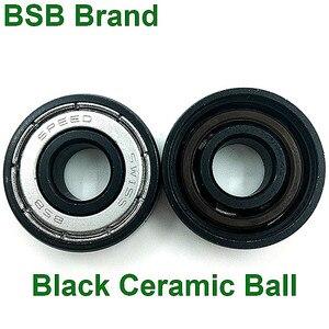 Image 4 - 16pc BSB Swiss Bearing Si3N4 Black Ceramic 6 Ball Skates Skateboard Bearing 608z Longboard Bearing Scooter Roller Skates Bearing
