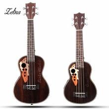 Cebra 21 23 4 cuerdas caja concierto Ukuleles acústica instrumento musical Hawaii Guitarras ra con incorporado EQ pickup