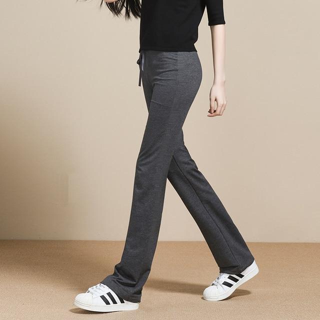 d6ddf0d14d6 New Arrived Cotton Low waist pants dance club wide leg loose long Bottoms  Sweatpants Women Flared