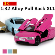 Science Fiction alloy car models 1:32 high simulation toy car, three can be opened, sound and light back to power, free shipping