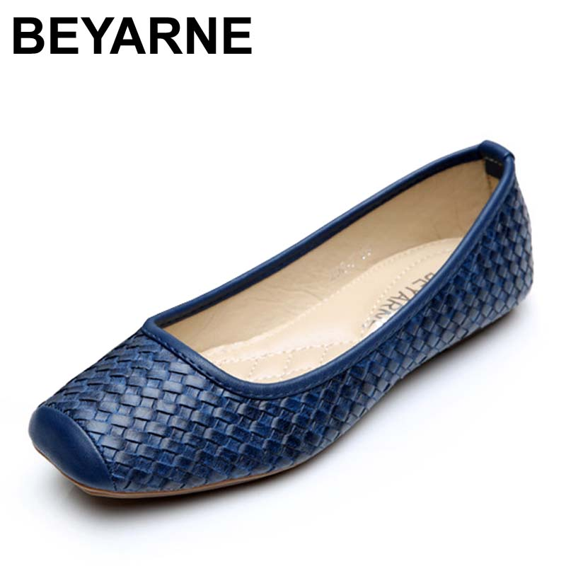 BEYARNE High quality women single shoes leather office work shoes female spring flat nurse shoes ballet flats woman moccasinsBEYARNE High quality women single shoes leather office work shoes female spring flat nurse shoes ballet flats woman moccasins
