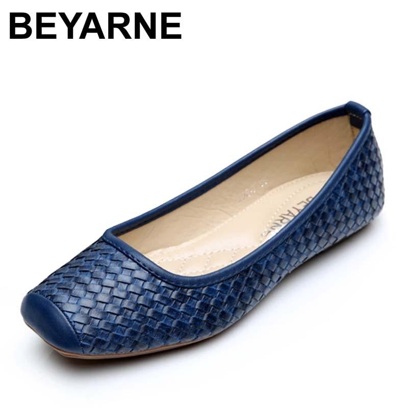 Beyarne zapatos de las mujeres solteras zapatos de trabajo de oficina de cuero d