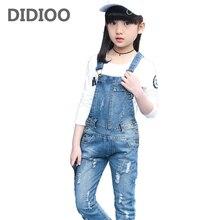 Denim Overalls High Quality Spring Children Clothing 2017 Girls Denim Jumpsuit Fashion Teenage Autumn Kids Pants for Girls 2T-14