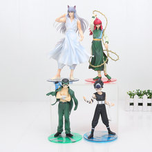17-25 cm Desenhos Animados Demônio Fox Kurama Urameshi Yusuke YuYu Hakusho Hiei PVC Action Figure Collectible Modelo Toy(China)