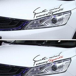Image 3 - Car Sticker Auto Decalcomania Impermeabile Del Faro di Modo Riflettente Adesivi Per Auto Adesivi Per Auto auto Moto Del Corpo Accessori per Lo Styling