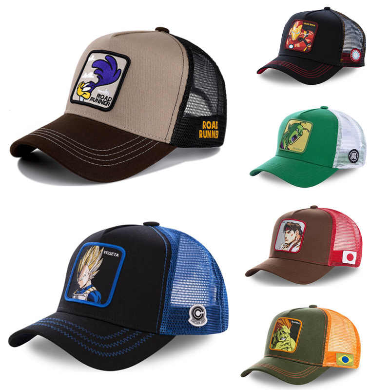 Brand DRAGON BALL Snapback Cap Cotton Baseball Cap Men Women Hip Hop Dad Mesh Hat Trucker Dropshipping