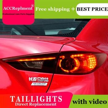 4PCS Car Styling for Mazda 3 Taillights 2014-2015 for Mazda 3 LED Tail Lamp+Turn Signal+Brake+Reverse LED light