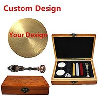 MNYR Gold Customized Picture Logo Monogram Letters Personalized Your design Wax Seal Sealing Stamp Wedding Invitation Metal Wax
