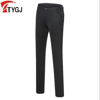 2019 new summer ladies golf apparel Women's breathable quick-drying black golf trousers thin Slim elastic golf pants with belt