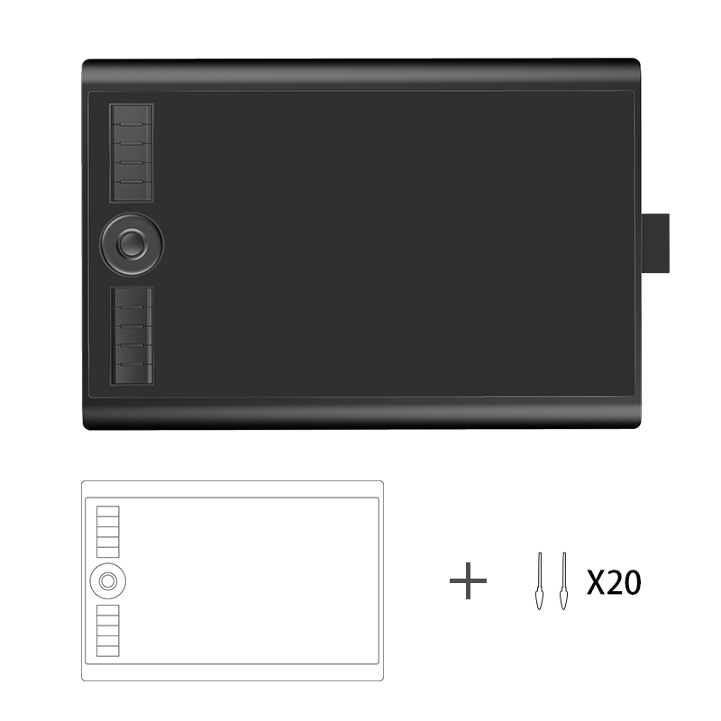 GAOMON M10K 10 6 25 Inches Drawing Pen Graphic Tablet with Passive Stylus attached Eraser with