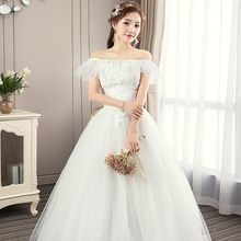 Fashion Wedding Dress Exquisite Embroidery Ball Gown with Delicate Applique and Sequins