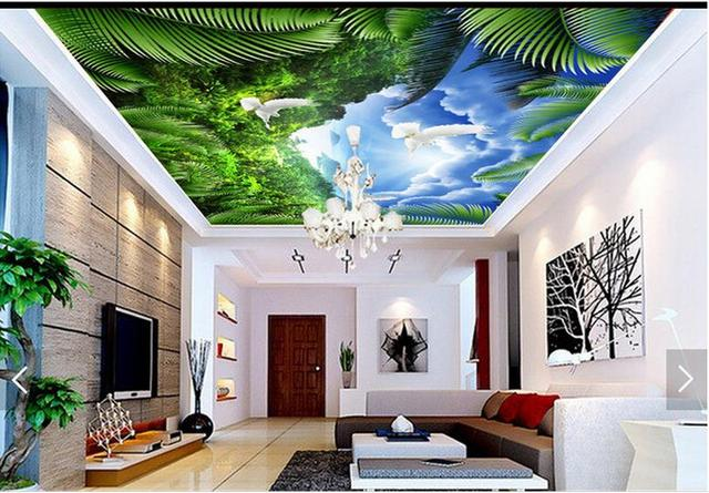Top sky wall murals wallpaper wallpapers for Ceiling mural wallpaper