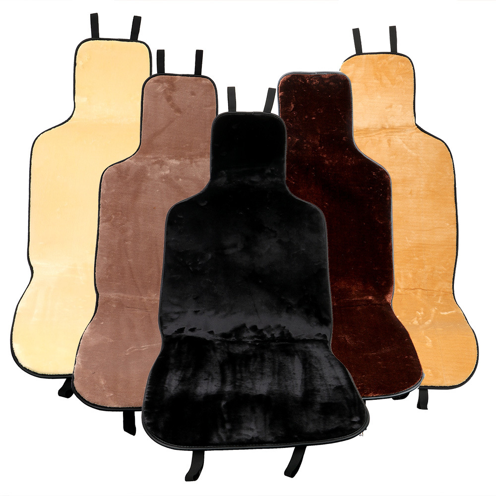 Soft Plush Car Seat Cover Car Seat Cushion Pad Anti-slip Warmer Winter Supply Automobiles Seat Covers Universal Car-styling