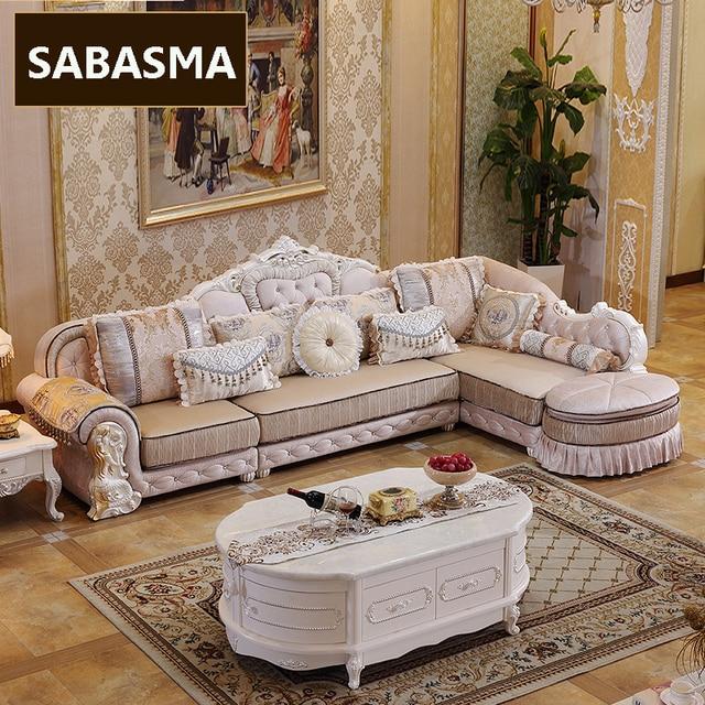 3 Pcs New Arrviel High Grade Fabric L Shape Sofa With Ottoman