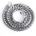 9.3 MM wide curb chain sautoir popular personality necklace Titanium steel chain