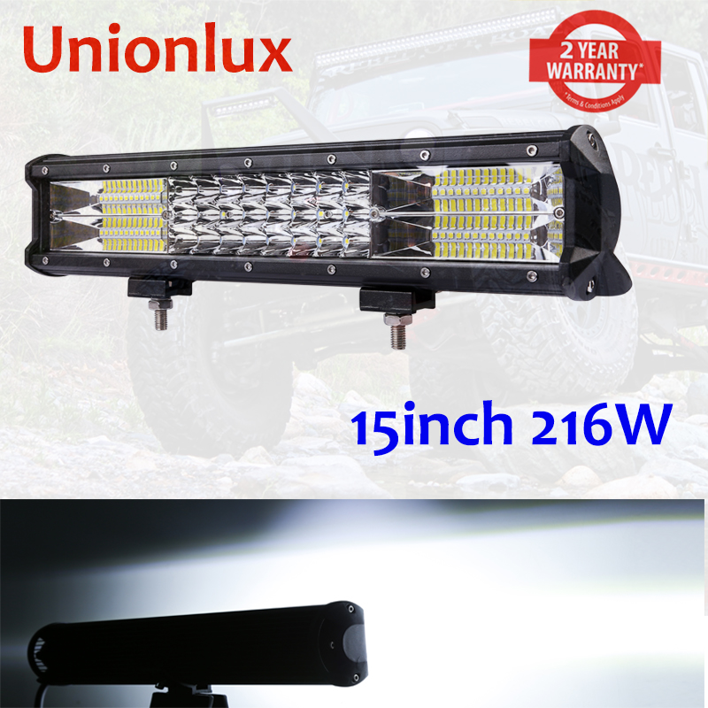 15'' Trirow Hot Sale 7D 216w LED Light Bar For Offroad 4x4