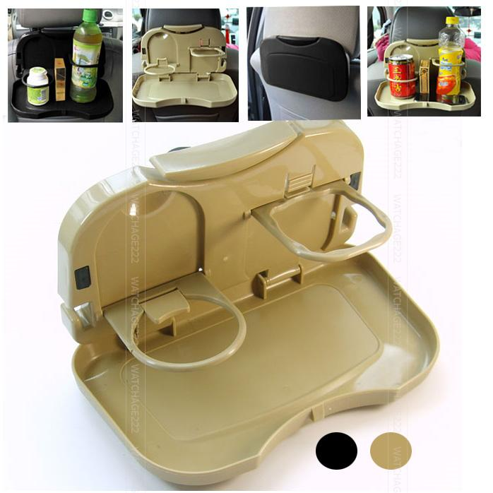 Auto car back seat folding table drink food cup tray for Cuisine table retractable