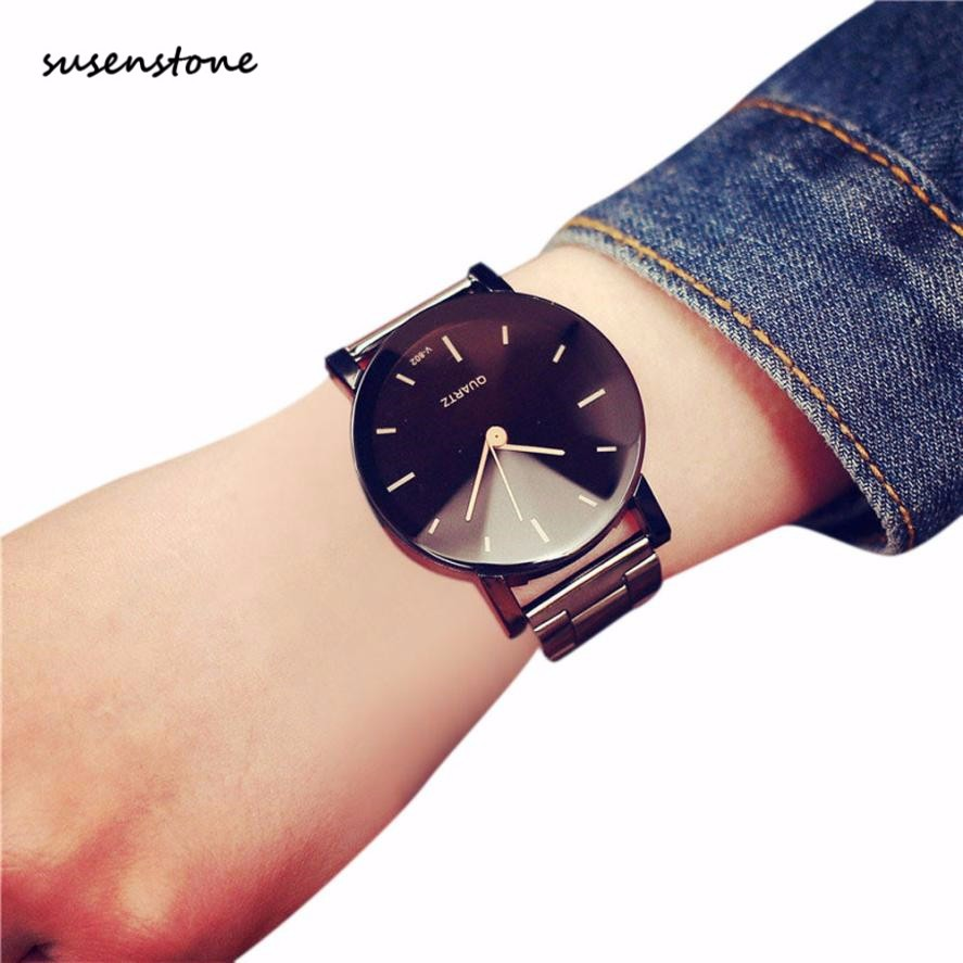 Susenstone Watch Luxury Lovers' Band Fashion Quartz 30 Saati Erkek Kol Stainless-Steel