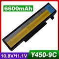 6600mAh laptop battery for LENOVO 55Y2054 L08L6D13 L08O6D13 L08S6D13 IdeaPad Y450 20020 Y450A Y450G Y550 4186 Y550A Y550P 3241