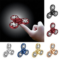Decompression Tri Spinner Fidget Hand Spinner Camouflage Multi Color EDC Focus Toys For Kids Adults Toy